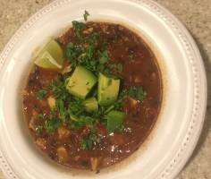 Chipotle, Black Bean & Chicken Chili-naturally Paleo & gluten free