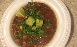 Chipotle, Black Bean & Chicken Chili-naturally Paleo & gluten free