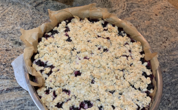 Recipe: Blueberry Hemp Heart Crumble